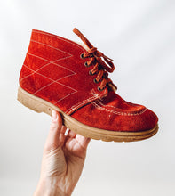 Rust Booties with Fur