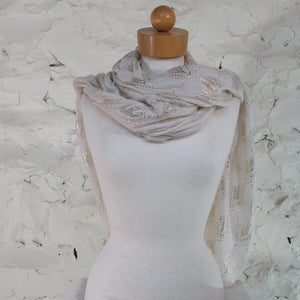 Printed Village, Metallic Scarf