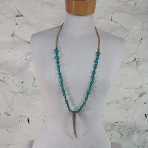 Stone & Horn Neckless