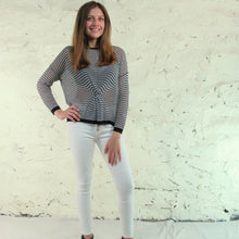 The Korner, Black & White Sweater Top