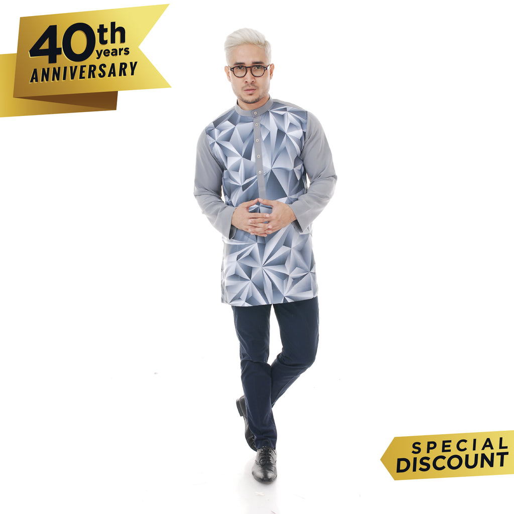 Kurta Abstract Grey Plus V 2.0