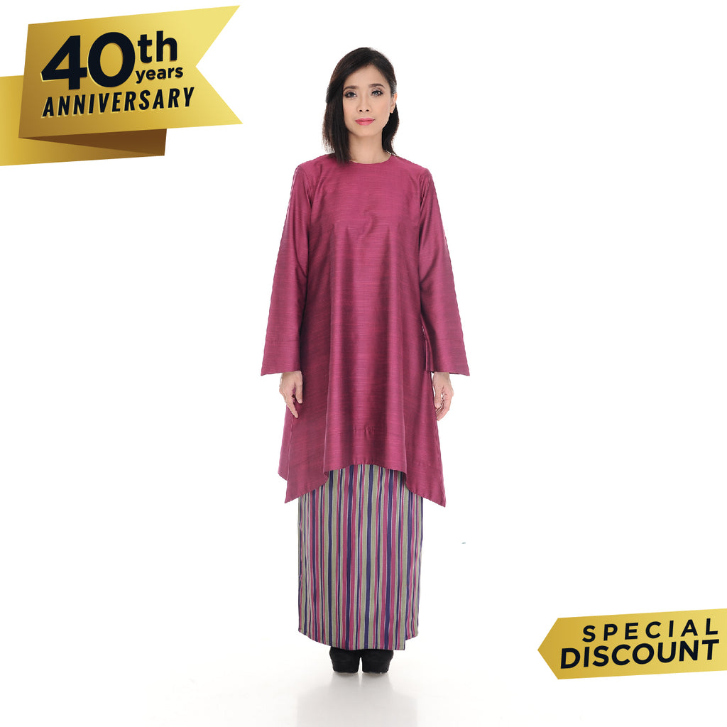 Baju Kurung Nabila Dark Purple