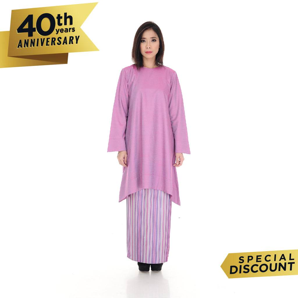 Baju Kurung Nabila Soft Purple