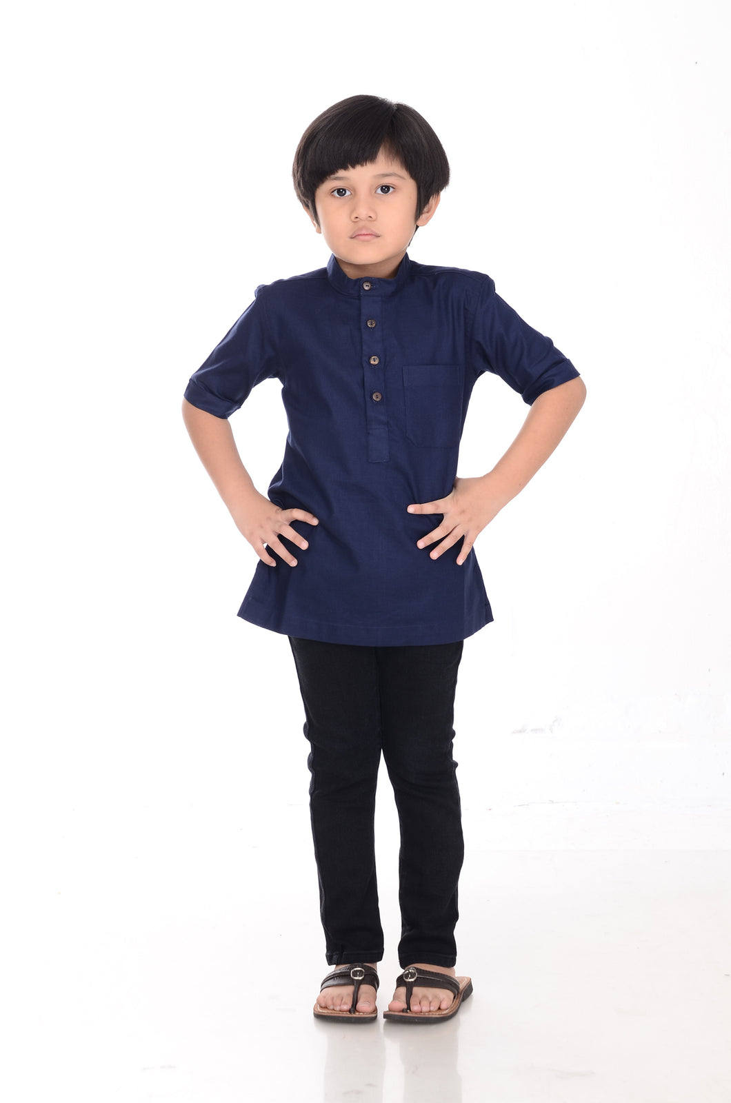 Kurta Premium Kids Navy Blue