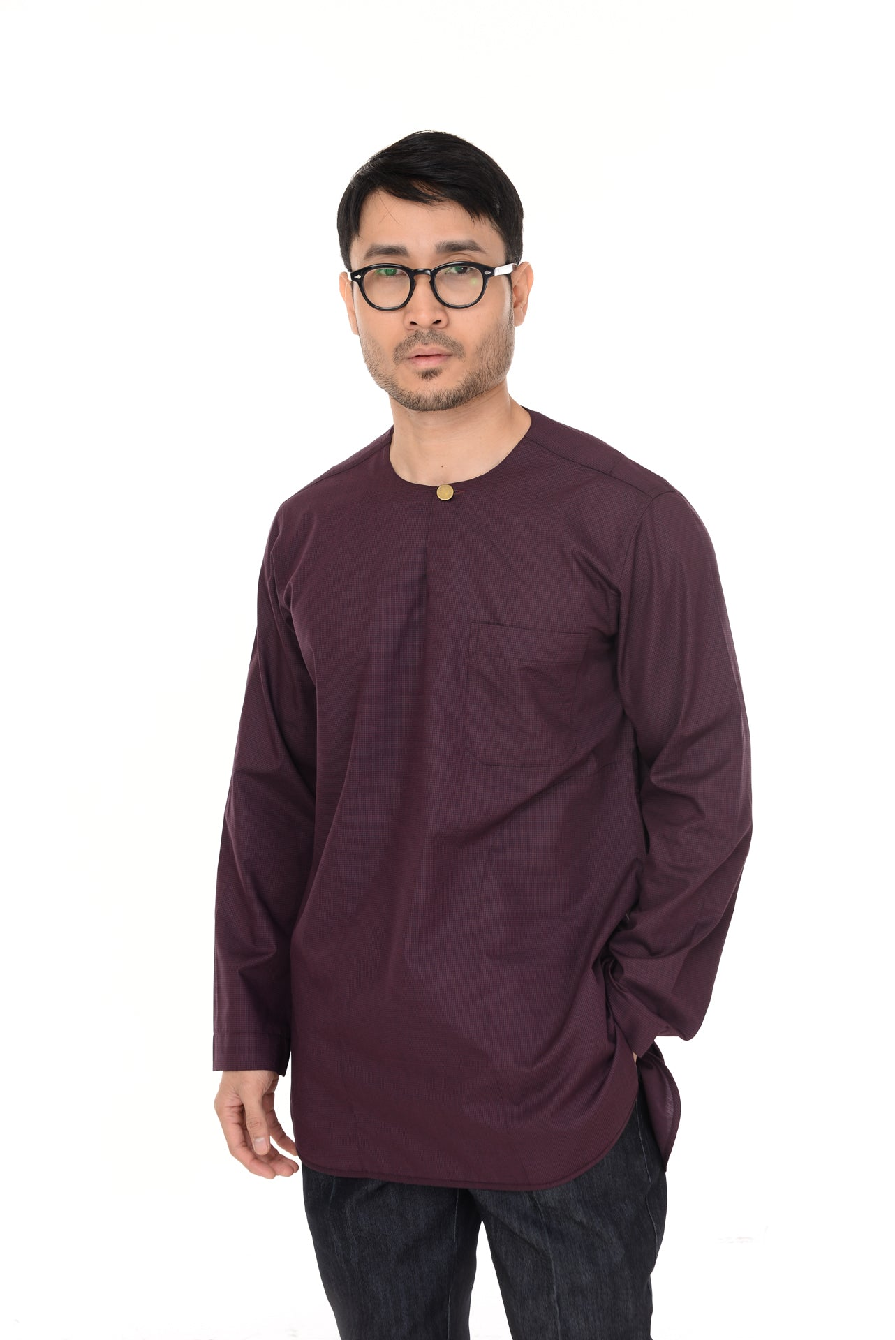 KURTA I.M.A IDRIS V.2B DARK PURPLE