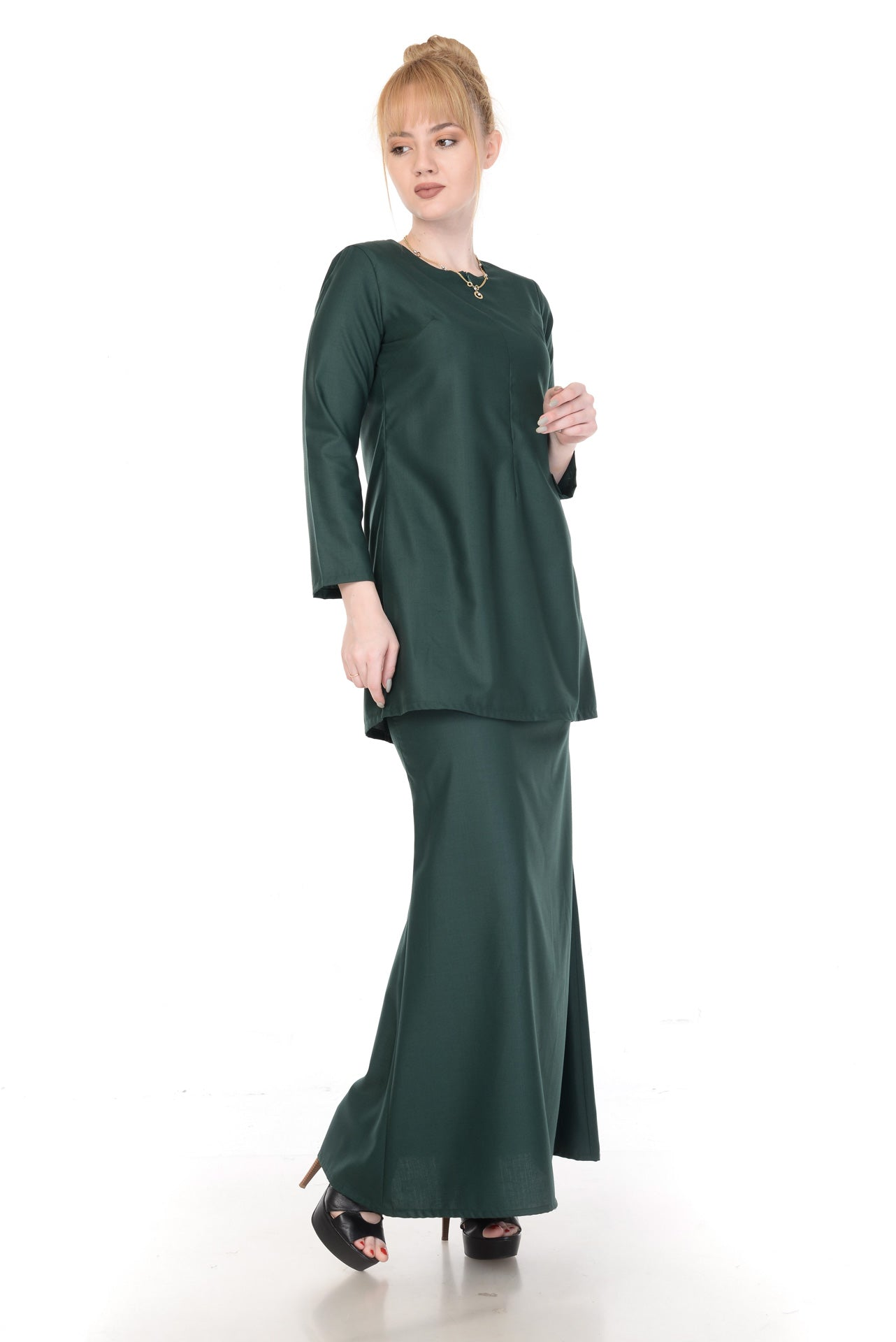 SET KURUNG ARABELLA DARK GREEN