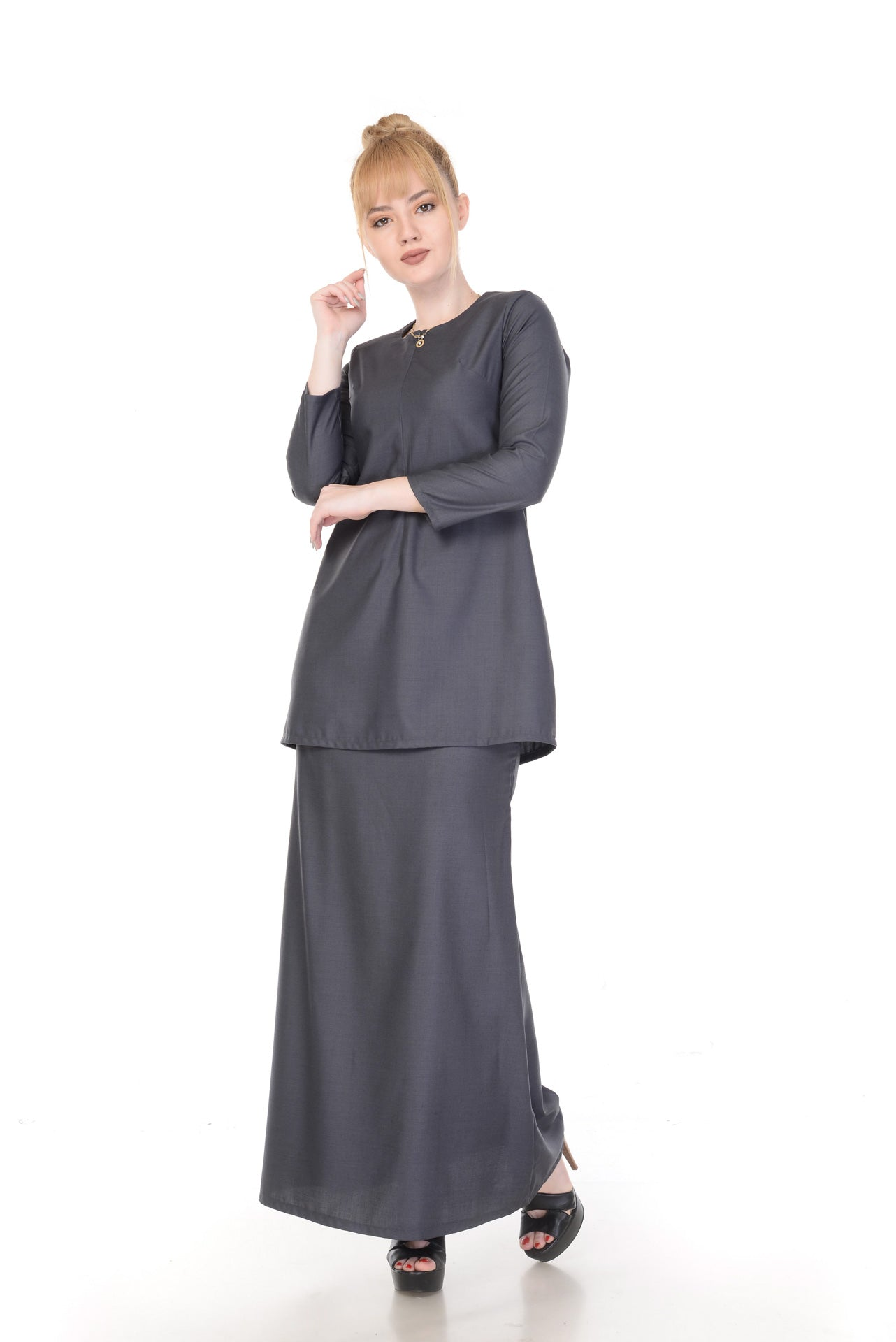 SET KURUNG ARABELLA DARK GREY
