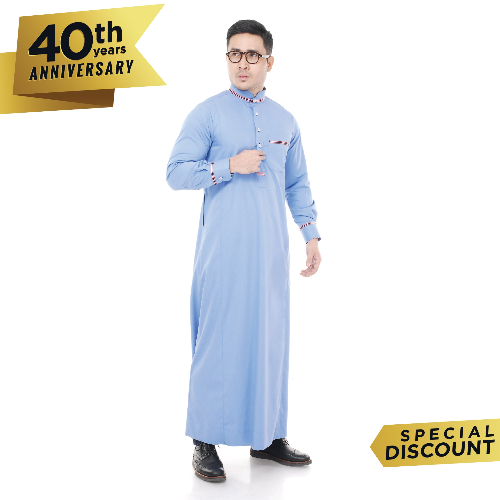 Jubah Uthman Light Blue