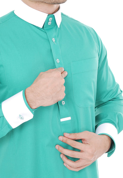 Jubah Hussain Turquoise Green