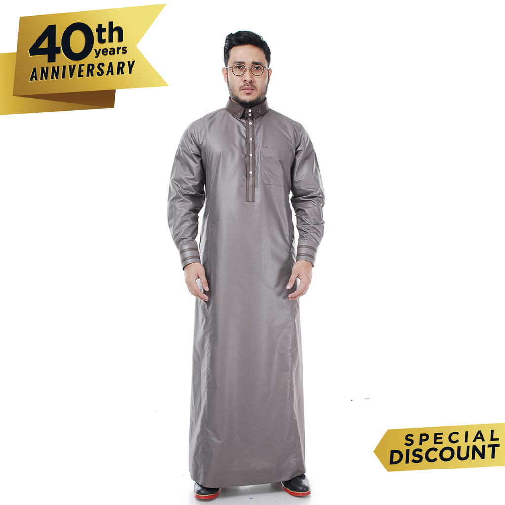 Jubah Omarthobe Style.3 Taupe Brown