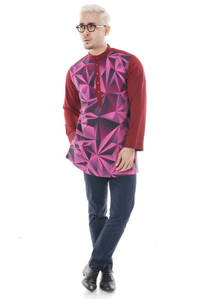 Kurta Abstract Maroon Plus V 2.0