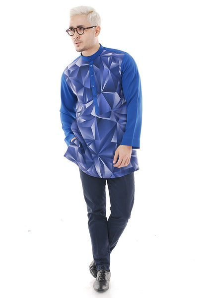 Kurta Abstract Navy Blue Plus V 2.0