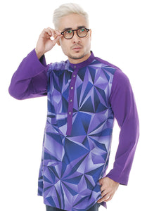 Kurta Abstract Purple Plus V 2.0