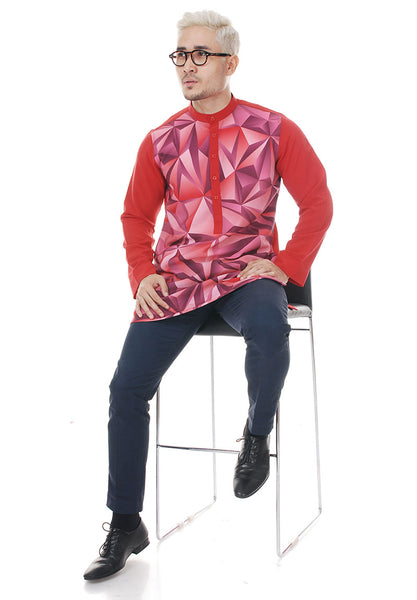 Kurta Abstract Red Plus V 2.0