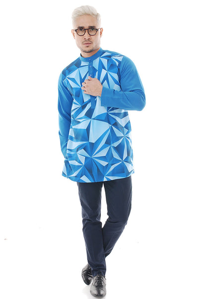 Kurta Abstract Royal Blue Plus V 2.0
