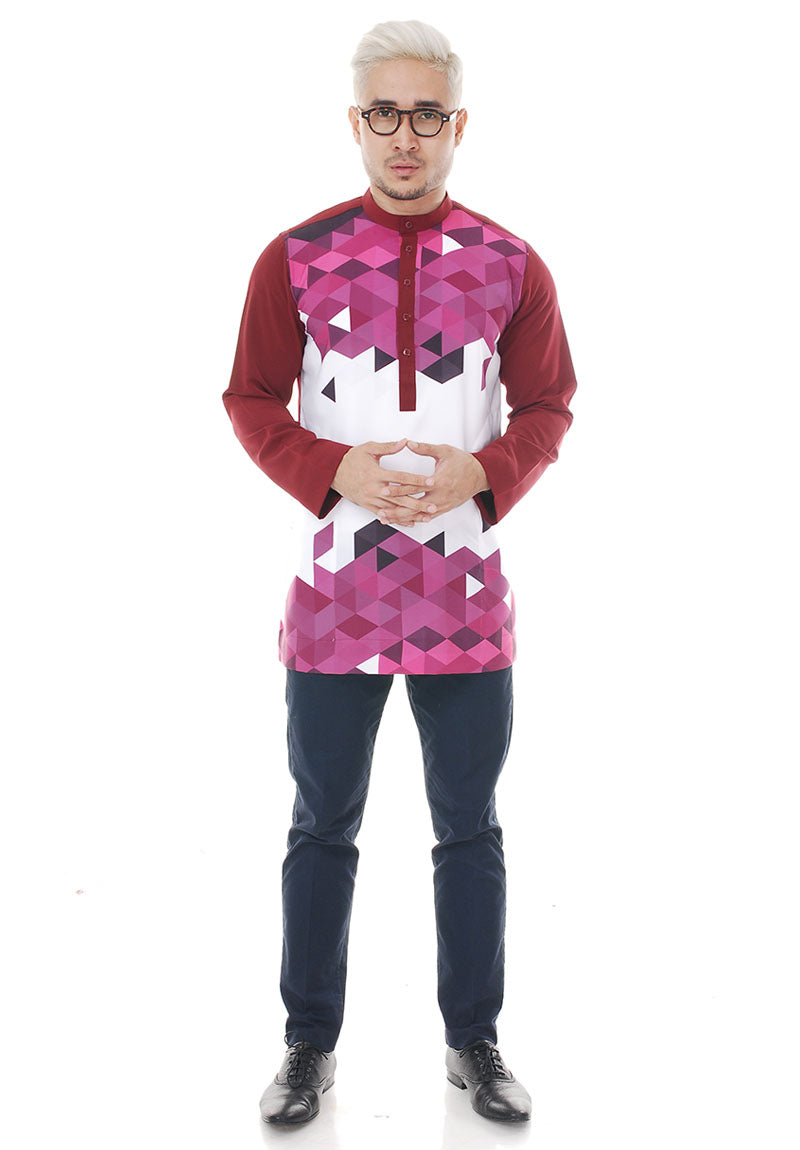 Kurta Abstract Maroon V 2.0