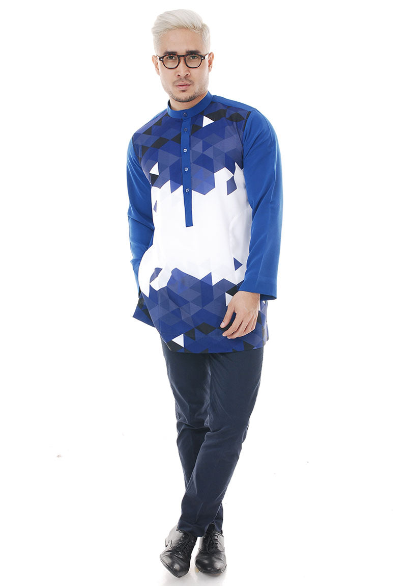 Kurta Abstract Navy Blue V 2.0