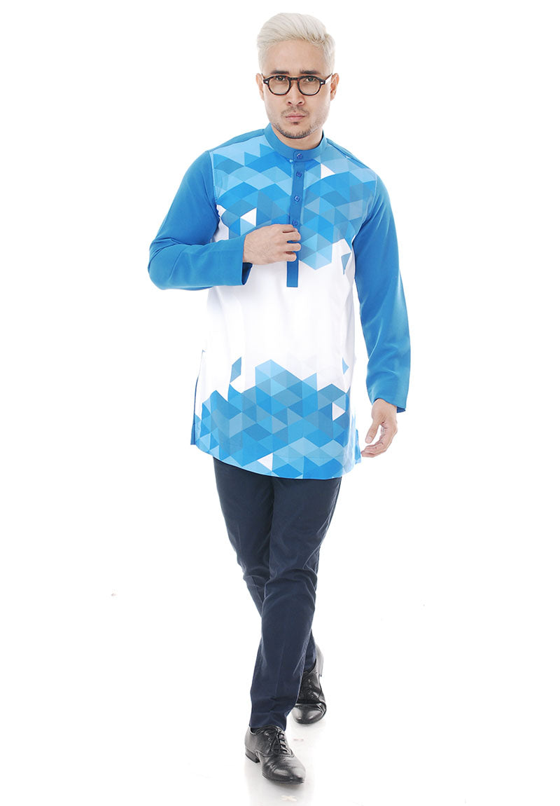 Kurta Abstract Royal Blue V 2.0