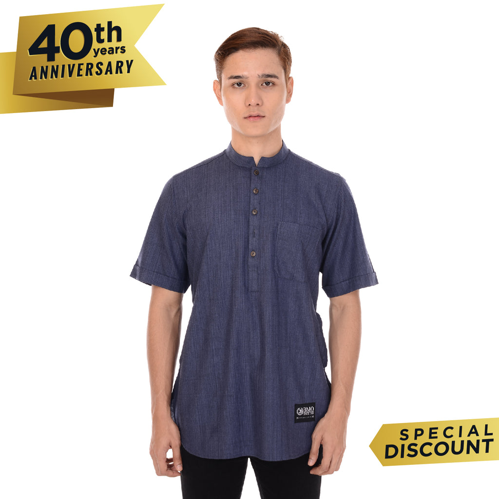 Kurta Basic Short Sleeve Denim Blue