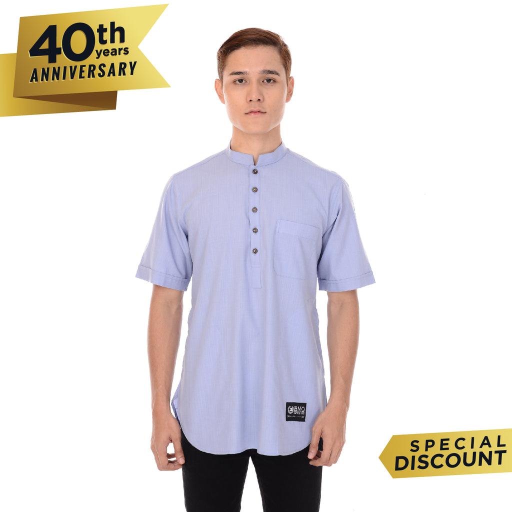 Kurta Basic Short Sleeve Light Blue