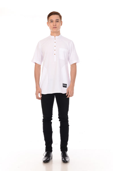 Kurta Basic Short Sleeve White