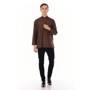 Kurta Hand Stitch Dark Brown