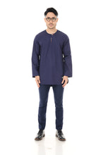 Kurta Idris Long Sleeve Navy Blue