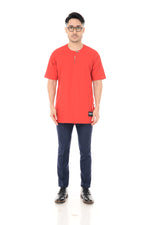 Kurta Idris Short Sleeve Red