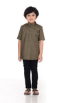 Kurta Premium Kids Army Green