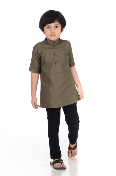 Kurta Premium Kid Army Green
