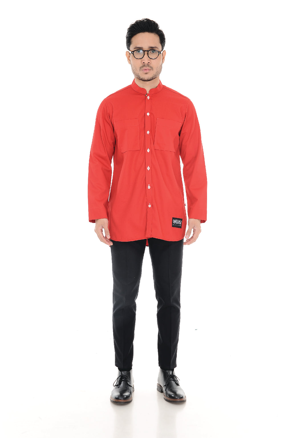 Kurta Raihan Long Sleeve Red