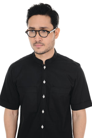 Kurta Raihan Short Sleeve Black