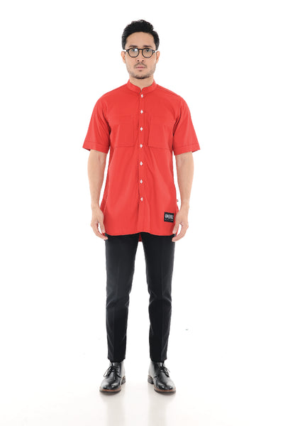 Kurta Raihan Short Sleeve Red