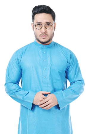 Kurta Tenun Pahang Light Blue