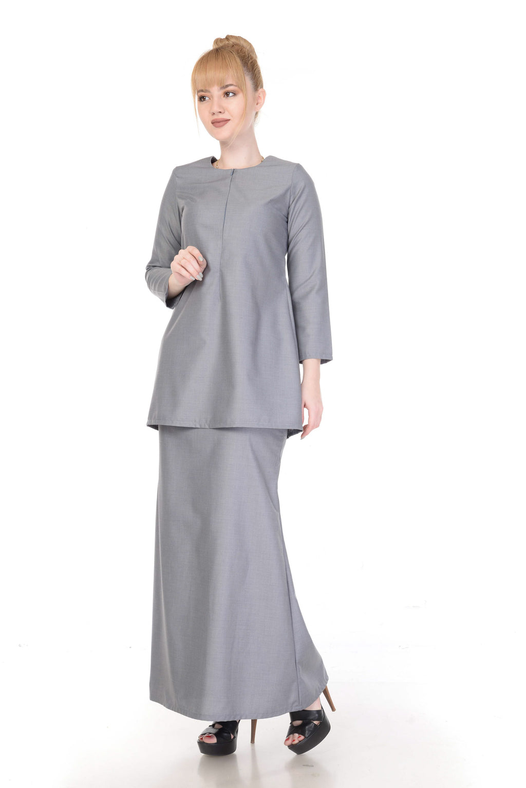 SET KURUNG ARABELLA LIGHT GREY