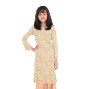 Baju Kurung Mawar Kids Brown