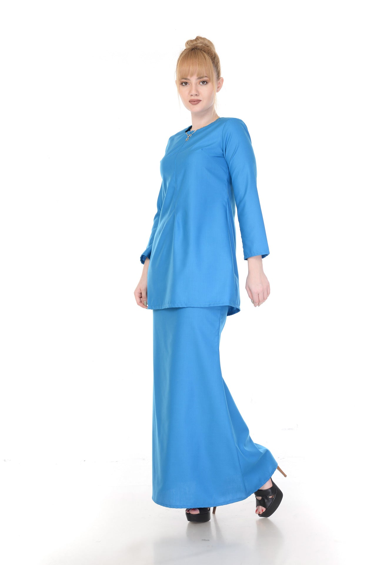 SET KURUNG ARABELLA TURQOISE BLUE