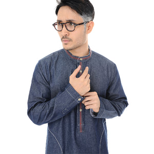 Kurta Shirt Denim Long Sleeve