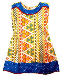 BottaBotta Polka Dot Geometric Cotton Casual Frock/Dress