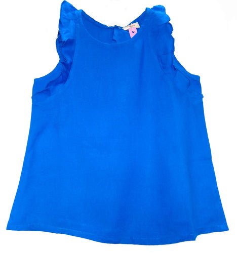 Bottabotta Turquoise Sleeveless Top For Girls