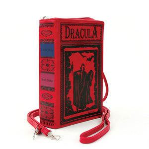 DRACULA Book Clutch Crossbody Handbag