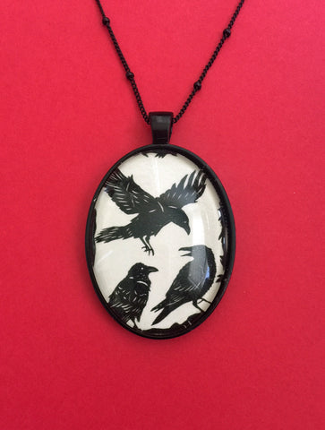 A CONSPIRACY of RAVENS Necklace - pendant on chain