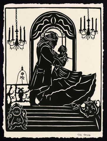 BEAUTY and the BEAST Papercut - Hand-Cut Silhouette