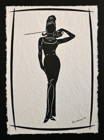 BREAKFAST AT TIFFANY'S Papercut - Hand-Cut Silhouette