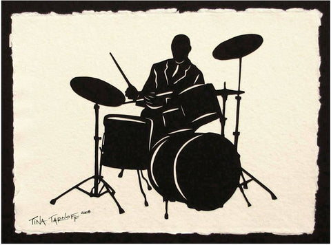 ELVIN JONES Papercut - Hand-Cut Silhouette