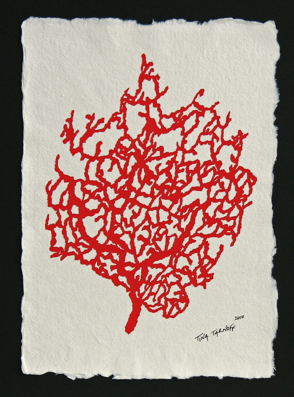 Fan Coral - Hand-Cut Papercut