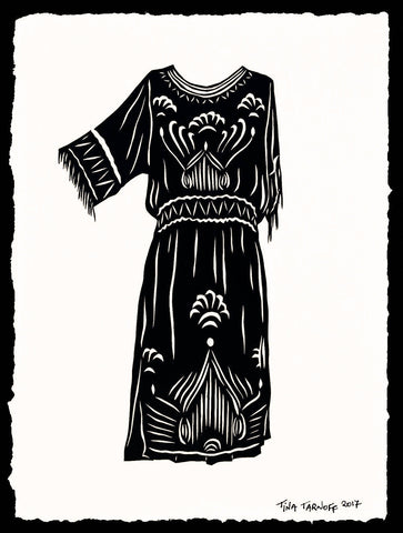 FLAPPER DRESS Papercut - Hand-Cut Silhouette