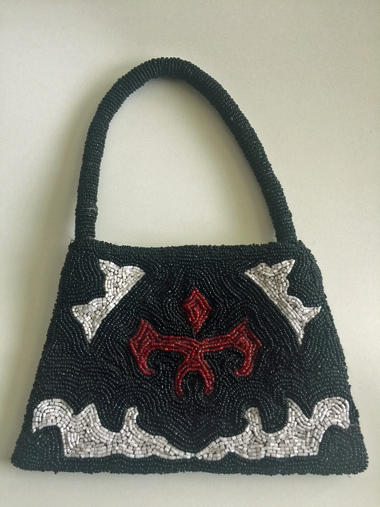 Vintage Beaded Bag Purse 60s/70s Retro Handbag Beautiful Unusual Design