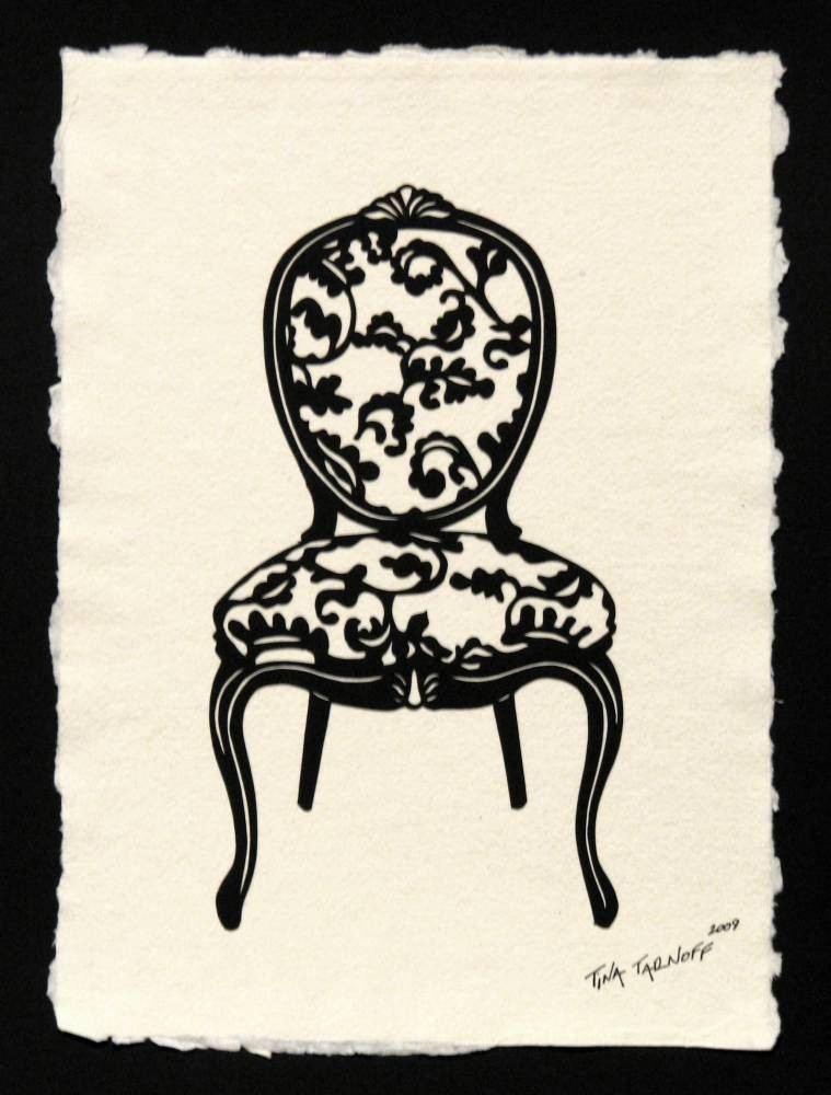 LOUIS XV CHAIR Papercut - Hand-Cut Silhouette