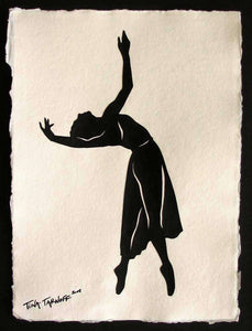 BEING MAYA Papercut - Hand-Cut Silhouette (Great Dancers Series)